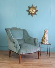 French teal lounge chair - SOLD